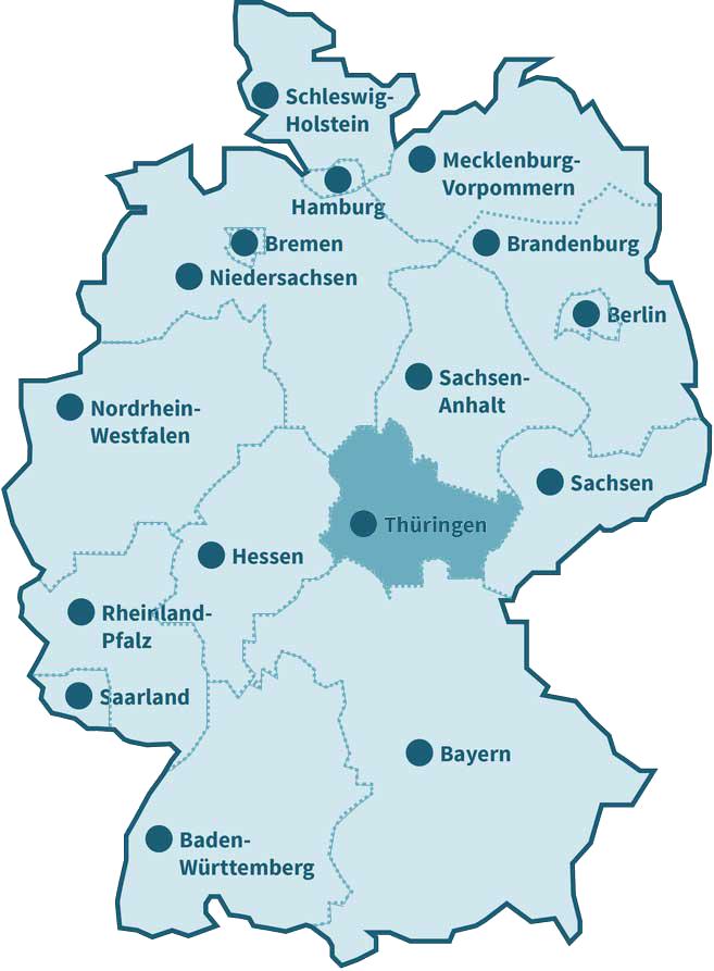 Karte der Ausbildungszentren